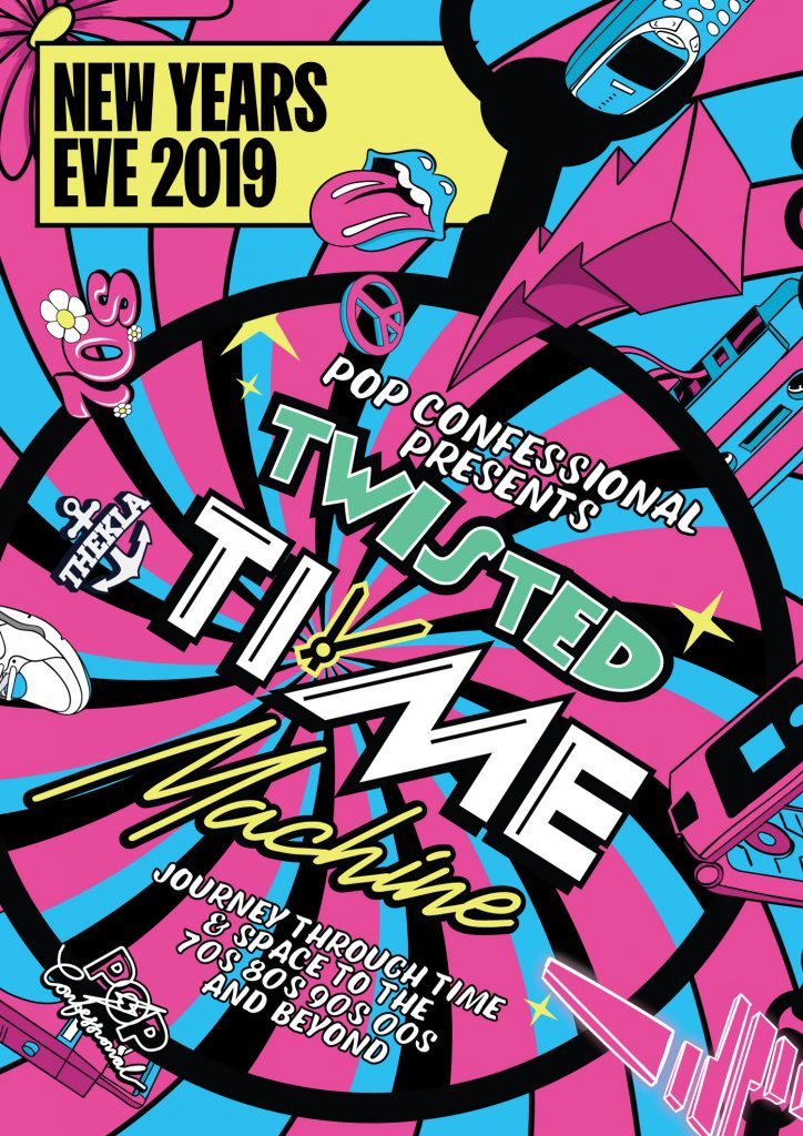 The Twisted Time Machine Pop Confessional NYE Thekla Bristol 2019
