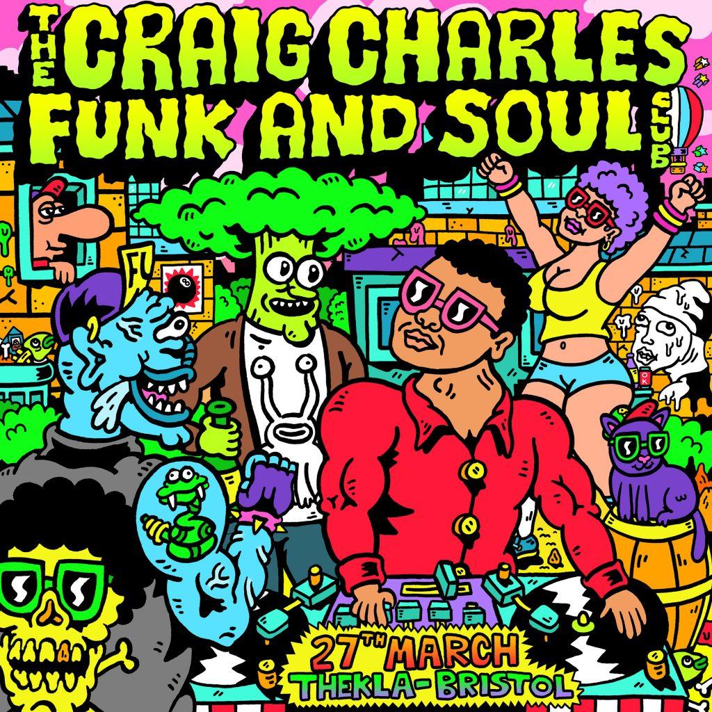 Craig Charles Thekla Bristol